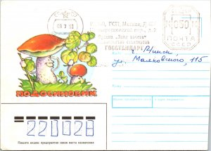 Russia, Postal Stationary, Mushrooms