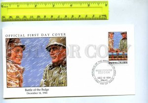 242055 MARSHALL ISLANDS WWII Battle of Bulge 1994 year FDC