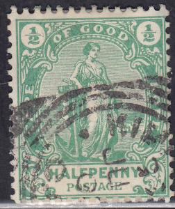 Cape of Good Hope 59 USED 1898 Hope Standing Thick Paper