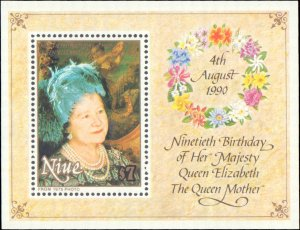 Niue #588, Complete Set, 1990, Royality, Never Hinged