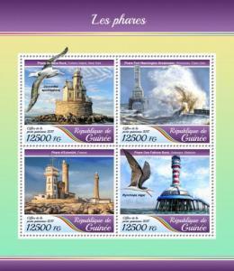 GUINEA - 2017 - Lighthouses - Perf 4v Sheet - MNH