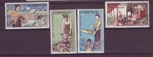 Laos #37-40 MLH CV$8.15