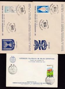 18921 BRAZIL 1973 JUDAICA - 3 COVERS w/ CACHET EN SPECIAL CANCELLATIONS