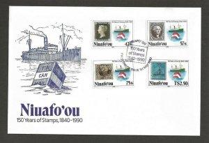 1990 Niuafo'ou Tonga Scout Mafeking Tin Can Mail FDC