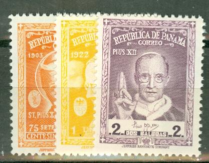 Panama 1955 Popes set mint CV $100, scan shows only a few