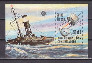 Guinea Bissau, 1983 issue. Communications-Space s/sheet. ^
