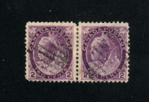 Canada #76  pair  used     PD
