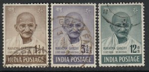India Sc 203-205 (SG 305-307), used