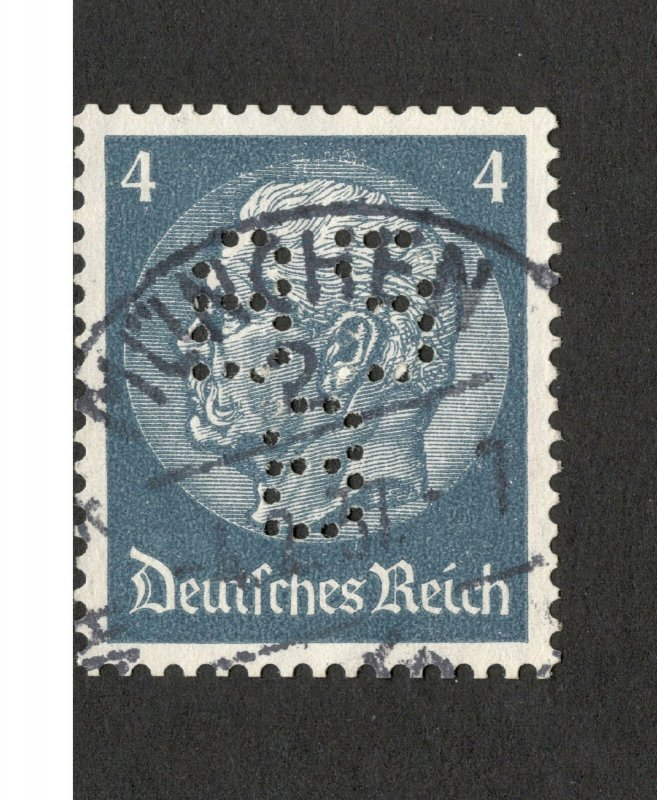 GERMANY-USED STAMP-PERFIN, PERFINS-1933.
