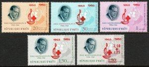 Haiti C219-C222,CB50, MNH. Intl. Red Cross Centenary. Dag Hammarskjold, 1964
