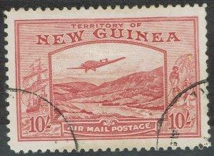 NEW GUINEA 1939 BULOLO AIRMAIL 10/- USED