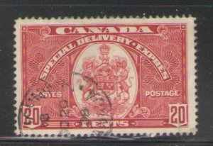 Canada Sc E8 1938 20c Special Delivery stamp used