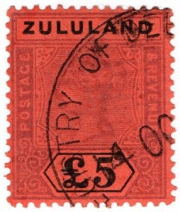 (I.B) Zululand Revenue : Duty Stamp £5