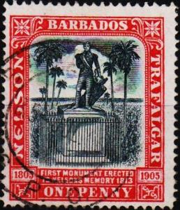 Barbados. 1906 1d S.G.147 Fine Used