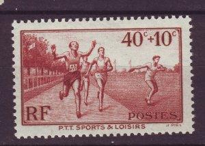J24642 JLstamps 1937 france part of set mh #b61 sports