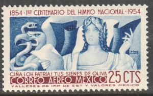 MEXICO C224, 25¢ CENTENARY OF THE NATIONAL ANTHEM. SINGLE.MINT, NH. F-VF