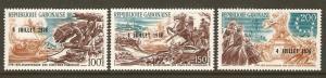 Gabon #C181-3 NH U.S. Bi-Cent. Ovptd. For Independence Day