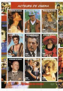 Senegal 1998 Italian Actors & Actresses Sheet (9) Perforated Mint (NH)
