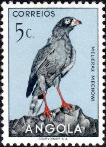 Angola 333 - Mint-H - 5c Dark Chanting Goshawk (1951) (cv $0.55)