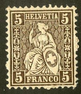 SWITZERLAND 43 MNH SCV $3.90 BN $2.00 WOMAN