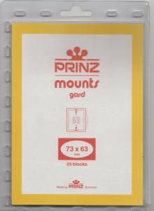 PRINZ CLEAR MOUNTS 73X63 (25) RETAIL PRICE $6.50