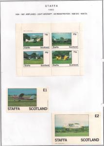 SCOTLAND - STAFFA - 1982 - Light Aircraft - Perf 4v, Souv, D/L Sheets -MLH