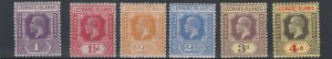 LEEWARD ISLANDS  1921 - 32  S G 61 - 70     VARIOUS VALUES TO 4D    MH