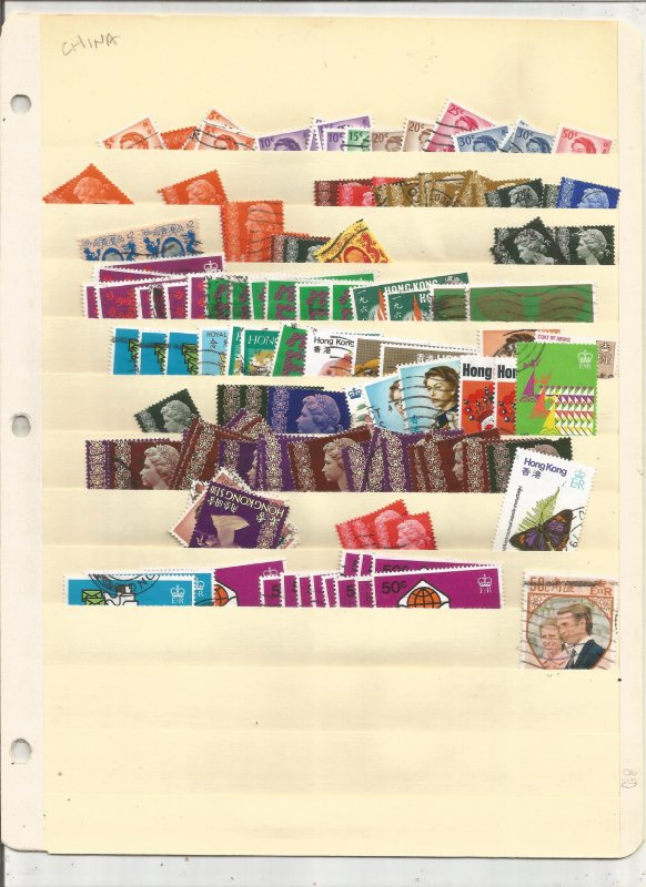 HONG KONG COLLECTION ON STOCK SHEET, MINT/USED