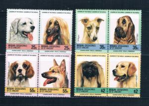 St Vincent - Grenadines Bequia 178-81 MNH set Dogs 1985 (S0902)