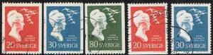 Sweden # 532 - 536 U