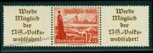 Germany 1937 Buildings Nothilfe Mi W128 MNH Zusammendruck ZSD Se-Tenant 74985