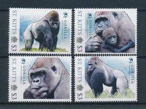 [107534] St. Kitts 2011 Wild life Gorilla  MNH