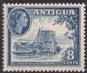 Antigua 1953 – 62 QE2 8ct Deep Blue MM  SG 127 ( L1411 )