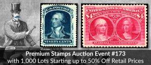 HipStamp Premium Auction Event #173