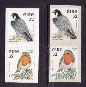 Ireland-Sc#1053-4c-unused NH set-Birds-Self-Adhesives-1997-