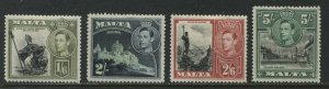 Malta KGVI 1938 1/6d to 5/ mint o.g. hinged