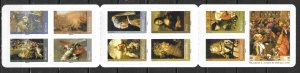 France 3403a Paintings SA Booklet Pane MNH FOLDED