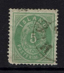 Iceland SC# 16, Used, Clipped Corner Perf -  Lot 032617
