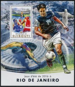 DJIBOUTI  2016 SUMMER GAMES RIO de JANEIRO 2016 SOCCER S/S  MINT NH