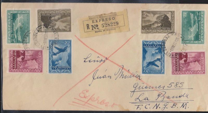 O) 1952 ARGENTINA, FIFTH PLAN -IMPORT AND EXPORT MEASURES, DOLPHIN, EXPRESS SERV