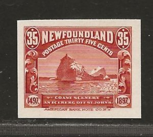 NEWFOUNDLAND  SC# 73P  CARD PROOF VF