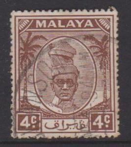 Malaya Perak Sc#108 Used