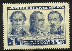 Paraguay 1961 Scott# 587 MH