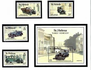 St Helena 519-23 MNH 1989 Early Vehicles