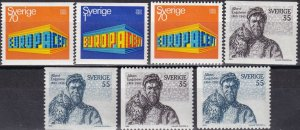 Sweden  #814-20  F-VF Unused CV $6.25  (Z6063)