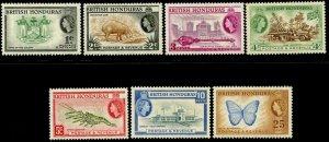 BRITISH HONDURAS Sc#144-149, 151 1953-57 QEII Definitives Part Set OG Mint LH