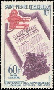 St. Pierre & Miquelon #C34, Complete Set, 1966, Never Hinged