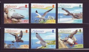 Alderney Sc 273-8 2006 bird stamps mint NH