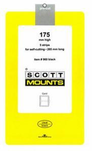 Prinz Scott Stamp Mount 175/265 BLACK Background Pack of 5