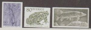 Sweden Scott #1295-1296-1297 Stamps - Mint NH Set